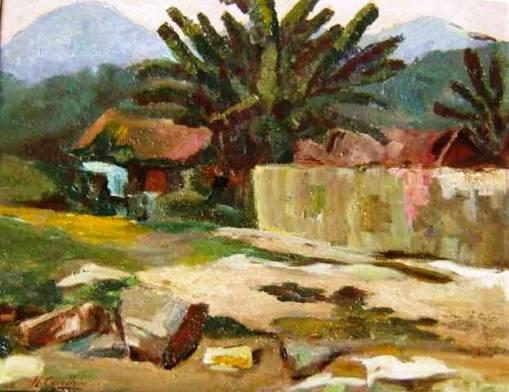 Cavalleiro, Henrique (1892-1975)PaisagemÓleo sobre madeira35 x 45 cm