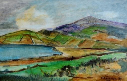 MARCIER, Emeric (1916 - 1990) - Paisagem, o.s. m. - 20 x 31 cm - Assinado e datado 79.