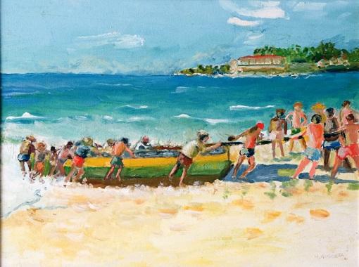 Maria Augusta,Copacabana Posto 6,46 x 61 cm – OST,Ass. CID e Dat. 2004