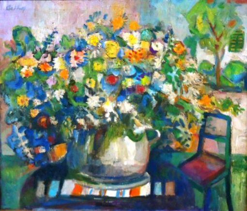 Orthof, Geraldo (1903 - 1993) - Vaso de flores, o.s.t. 60 x 70. Assinado cse e verso.
