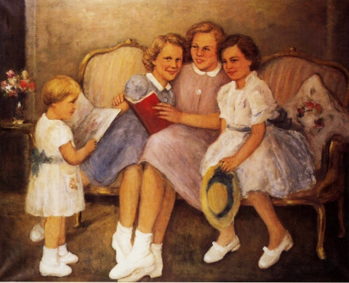 Theo Swagemakers (Alemanha, 1898-1994) As quatro princesas, 1952, ost