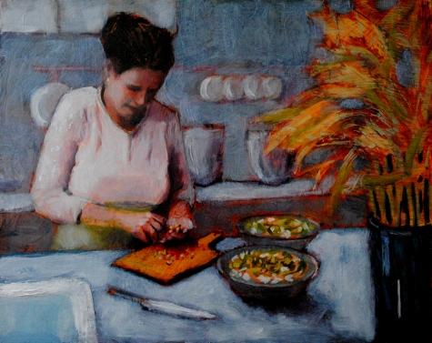woman_in_the_kitchen_8x10_oil_on_board_framed_figurative__figurative__9679b5bfe7cf32bd2b13677008c05381