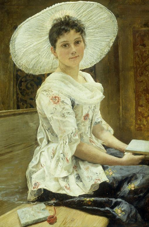 a-young-beauty-in-a-white-hat-franz-xaver-simm