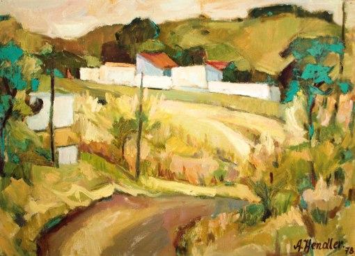 ADAM HENDLER (1909 - 1981)Paisagem,1978,ost, 40 x 55 cm