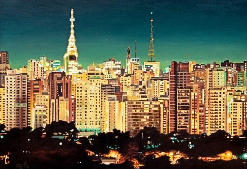 Carlos Eduardo zornoff,(Brasil, 1959) Vista Noturna SP, 2014, ost, 70 x 100