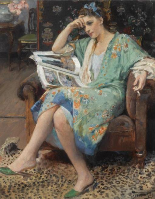 Hermann Jean Joseph Richir. Belgian (1866 -1942) An Interesting Read,