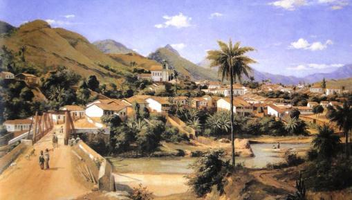 Johann  GRIMM 1846-1887- Vista de Sabará - MG  in TOBINO -2007- p 099a