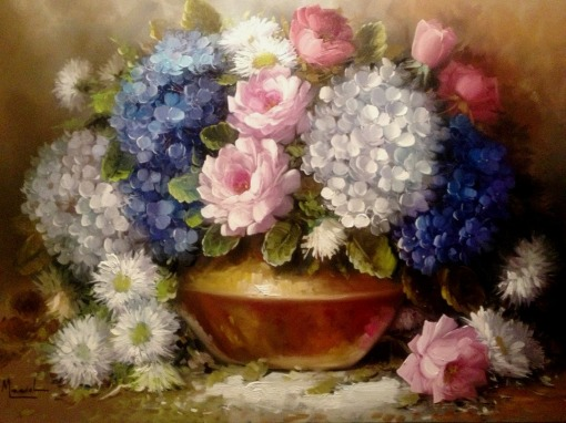 JORGE MACIEL - Arranjo - Óleo sobre tela - 70 x 100