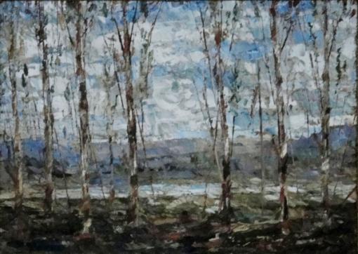 JOSE PAULO MOREIRA DA FONSECA (1922-2004). Tranquilidade no Outono, óleo s tela, 23 X 32. Assinado e datado (1975) no c.i.d.