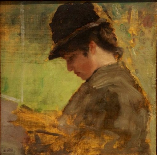 The English Lady, 1880 By Giuseppe De Nittis (Italia, 1846-1884) ost,NGMARTE, Roma