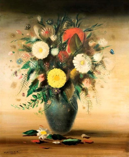 Candido Portinari, 1941, Flores, ost, 73x60