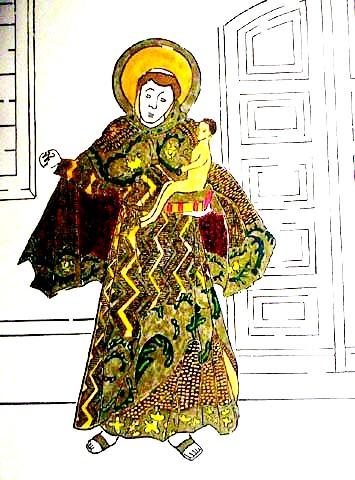 Djanira, Santo antonio litogravura aquarela
