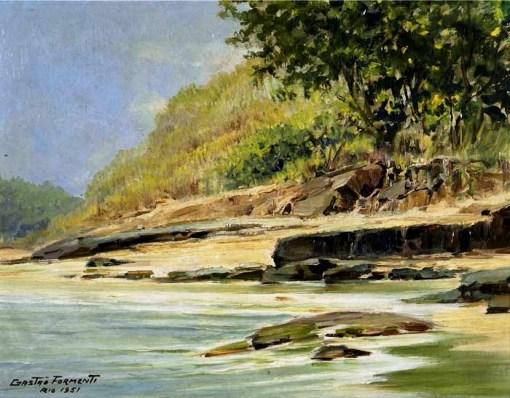 Gastão Formenti,Beira-rio,27 x 35 cm – OSM, 1951