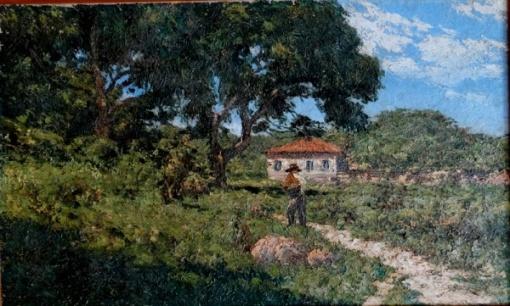 GENTIL GARCEZ. Paisagem - o.s.t. - 41 x 69 cm - assinado e datado 1937 no cid,