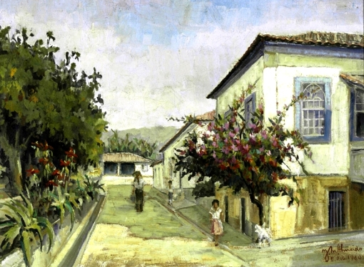 JoséMaria de Almeida,Conservatoria, ost, 50x69cm, 1960