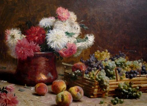 Pedro Alexandrino (1856 - 1942), PESP, Frutas e Flores,1899,ost,69x124cm