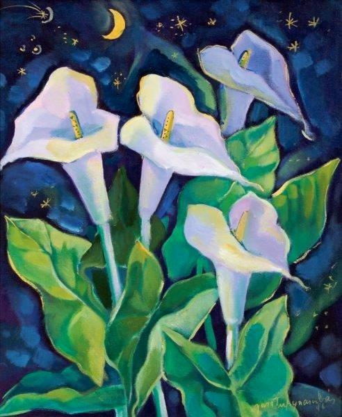 Yara Tupynambá, Copos de leite,astse,1996,56 x 46cm