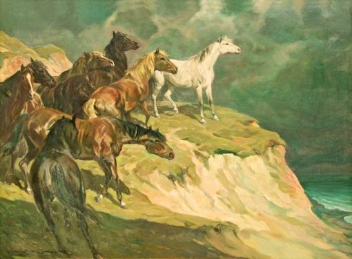 carol-kossak, cavalos, ost, 90x120