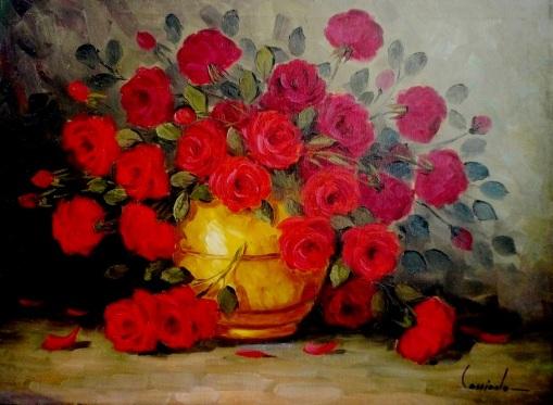 CASSIANO P. SOUZA NETO - Flores, ost, 60x80cm