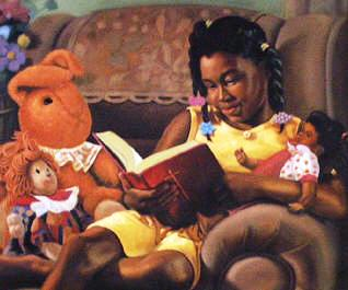 Henry Lee Battle (American) Girl reading, 2002