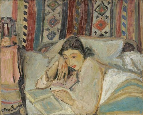 Jacques Chapiro (Belarusian, 1887-1972),femme lisant,