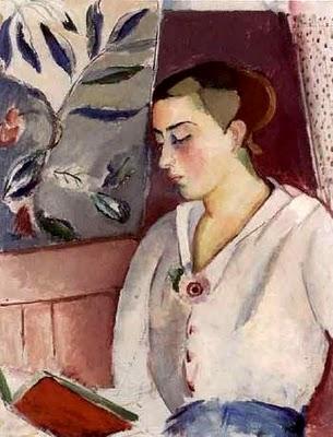 Leander Engstrom (1886-1927)Moça com livro
