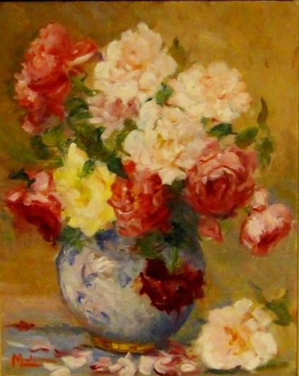 Malisa (1913-1992) Vaso com flores ost, 41x33
