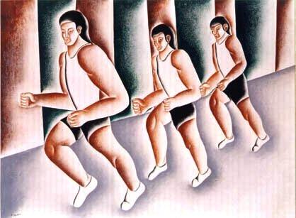atletas vicente do rego monteiro, ost,91 x 122 cm