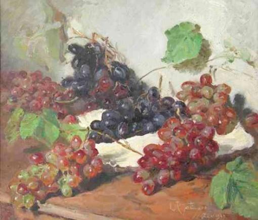Leopoldo Gotuzzo - Uvas - Óleo sobre tela - 44 x 51 cm - 1945