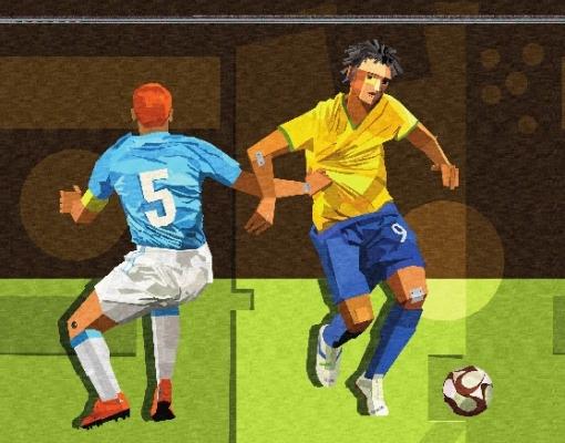 Manasses Andrade (Brasil, 1955) A jogada, ano 2013, 100x80cm,Acrilica sobre Tela