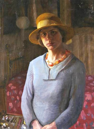 1889-hilda-carline-english-artist-1889-1950-self-portrait-1923