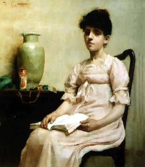 fanny-caille-franca-1850-1900-femme-lisant-ou-reverie-ost