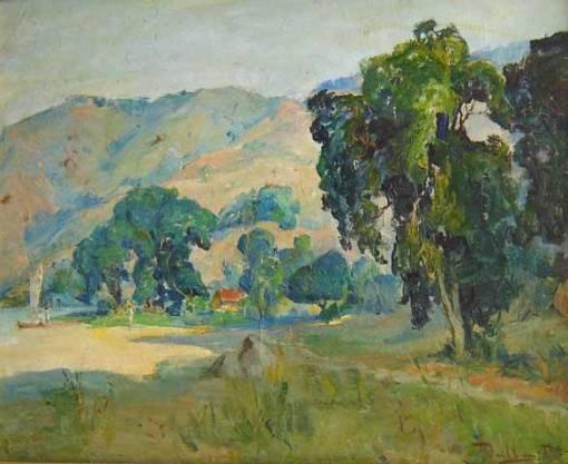 Valle Jr, Paulo (1889-1958)Paisagem.Óleo sobre cartão33 x 40 cm