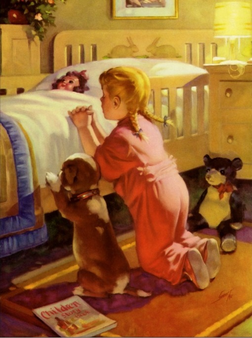 vintage_religion_girl_praying_with_dog_at_bedtime_poster-r659fb8c06c4e4abcb551f30647390d1d_z0fey_8byvr_1024