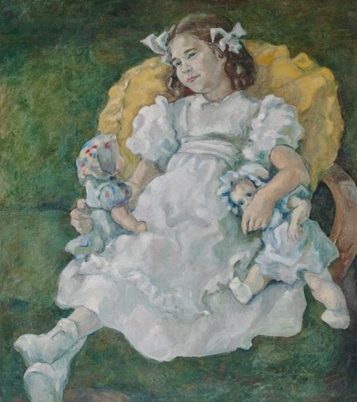 alice-soares-brasil-1917-2005-menina-e-suas-bonecas-retrato-de-moema-soares-aos-seis-anos-103-x-943-cm
