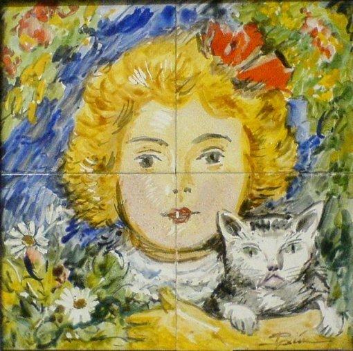 antonio-paim-vieira-1895-1988-azulejos-menina-e-gato