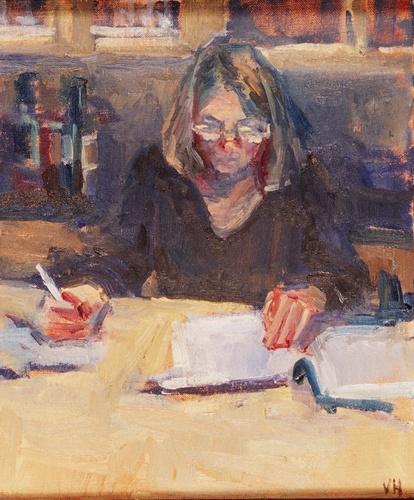 mulher-escrevendo-valerie-hardy-eua-contemp-ost-30-x-25-cm