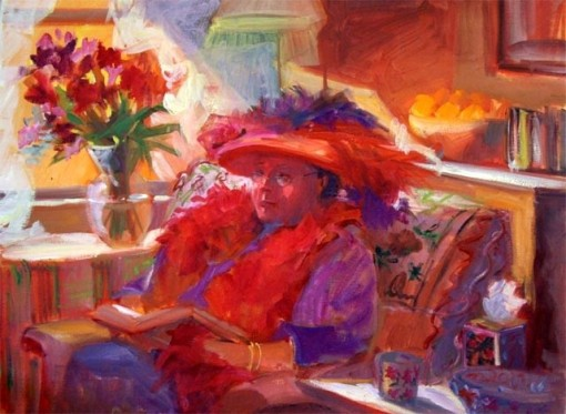 terry-oakes-bourret-eua-2015red-hat-lady-2004-24x18-in