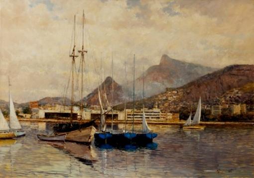 mauro-ferreira-barcos-ancorados-junto-ao-aterro-ao-flamengo-70-x-100-cm-ost-ass-cid-e-dat-2010