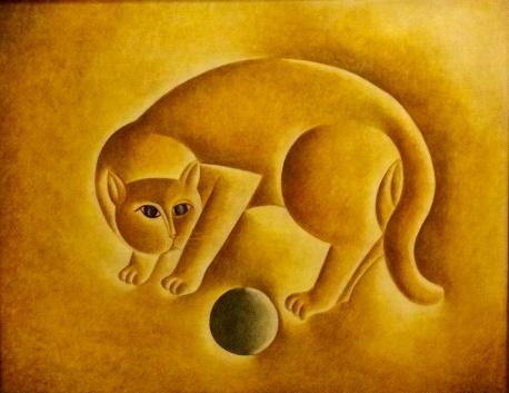 vicente-do-rego-monteiro-oleo-sobre-tela-gato-com-bola-med-65x80