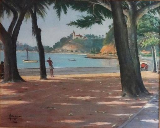 albano-carvalho-praia-das-pitangueiras-o-s-t-635-x-79-cm-assinado-e-datado-1948-no-c-i-e-e-titulado-localizado-ilha-do-governador-rj