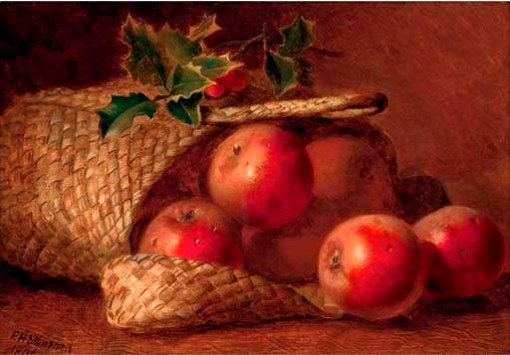 eloise-harriet-stannard-inglaterra-1829-1915-basket-fruit-holly