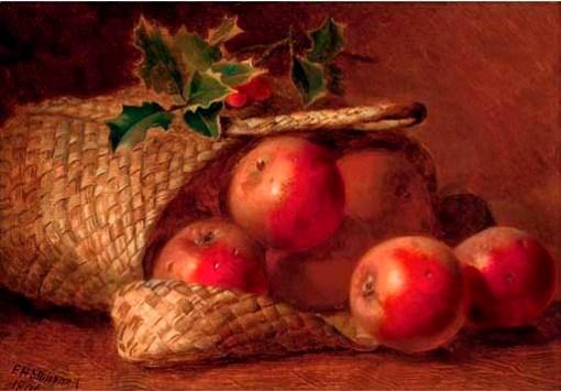 eloise-harriet-stannard-inglaterra-1829-1915-basket-fruit-holly