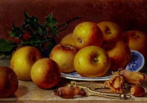 eloise-harriet-stannard-inglaterra-1829-1915nm-com-prato-azul-macas-e-azevinhooleo-sobre-tela