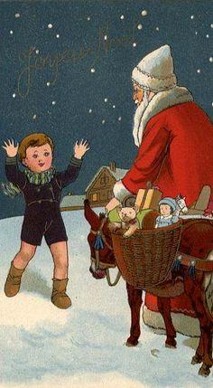 menino-papai-noel-presentes-e-burrico