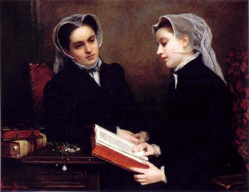 henriette-browne-franca-1829-1901-a-leitura-da-biblia-1857
