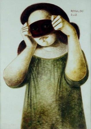 reynaldo-fonseca-1925-figura-feminina-com-mascara-pastel-s-papel-70-x-50-cm