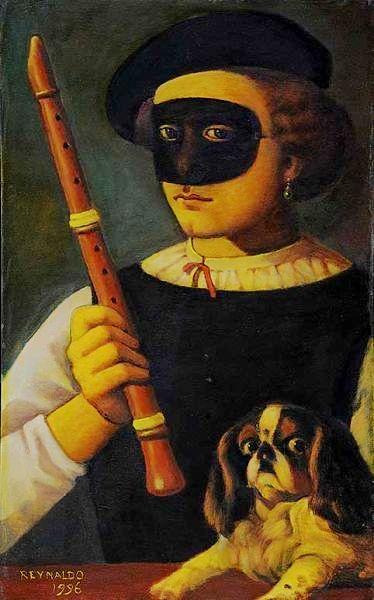 reynaldo-fonseca-1925-flautista-com-mascara-chapa-industrializada-ass-e-datado-1996-cie-e-verso-55-x-33-cm
