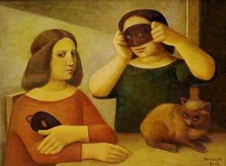 reynaldo-fonseca-brasil-1925-mascardas-com-gato2003-ost60-x-80-cm
