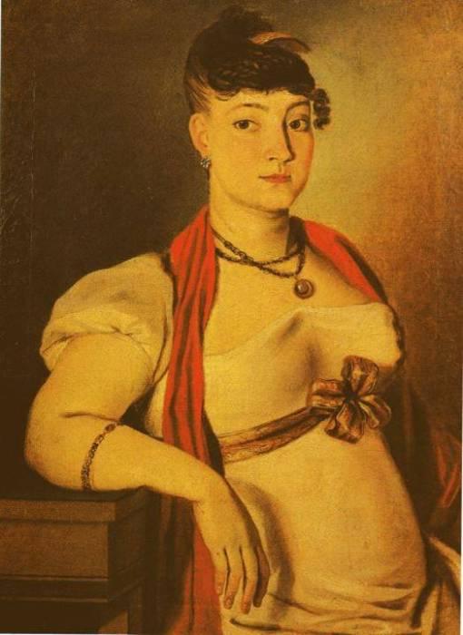 Antonio Joaquim Franco Velasco (Brasil 1780-1833) Retrato de senhora, 1817